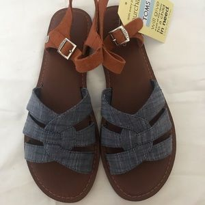 TOMS-Zoe Chambray Brown Suede, Women's 9